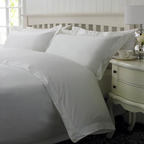 2 Row Cord Boutique Egyptian 400 Thread Cotton Percale - White Cording - Duvet Cover
