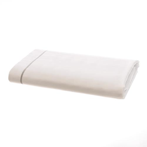 Amalfi Egyptian 600 Thread Cotton Sateen with Grey Cord - Flat Sheet