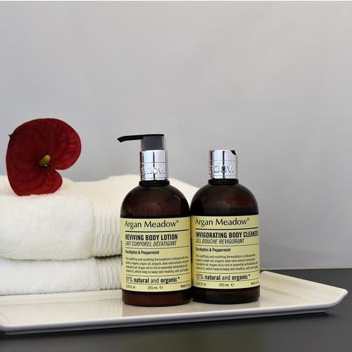 Argan Meadow 370ml Toiletries (Eucalyptus & Peppermint) Organic and Natural