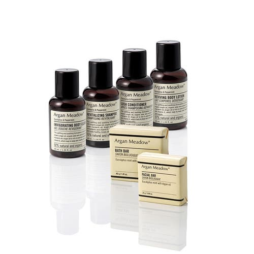 Argan Meadow Hotel Complimentary Toiletries (Eucalyptus & Peppermint) Organic and Natural