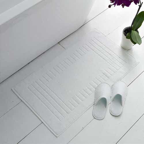 Pure Cotton Towelling Bathmat 1000gsm White