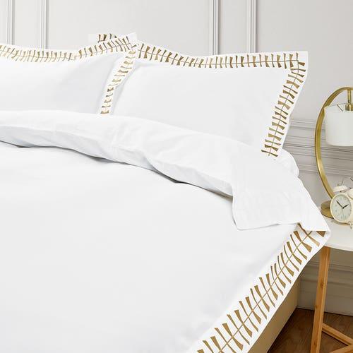 Cleopatra 400 Thread Cotton Sateen - Gold - Duvet Cover