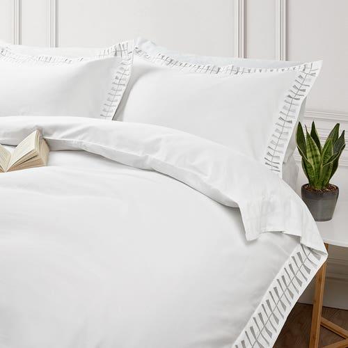 Cleopatra 400 Thread Cotton Sateen - Silver - Duvet Cover