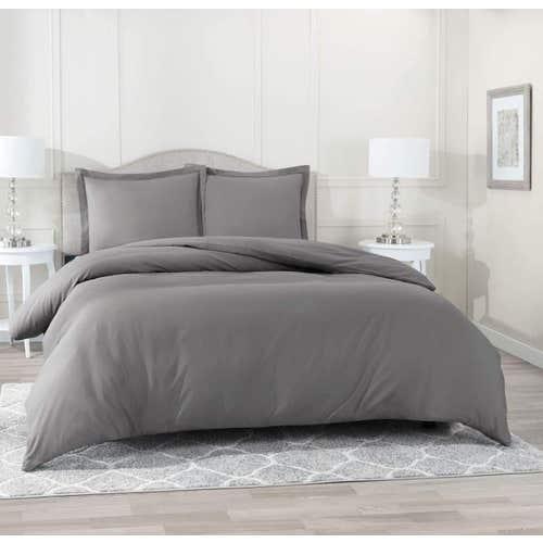 Pelle d'uovo 300 Thread Cotton Sateen - Slate Grey - Duvet Cover