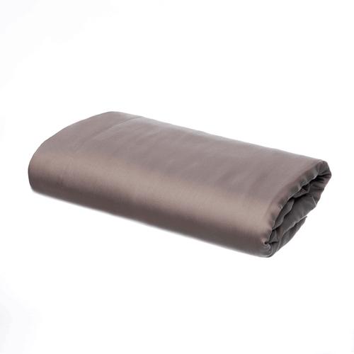 Pelle d'uovo 300 Thread Cotton Sateen - Slate Grey - Flat Sheet
