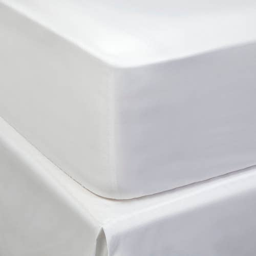 Easy Care Luxury 300 Thread Polycotton Sateen  - Fitted Sheet
