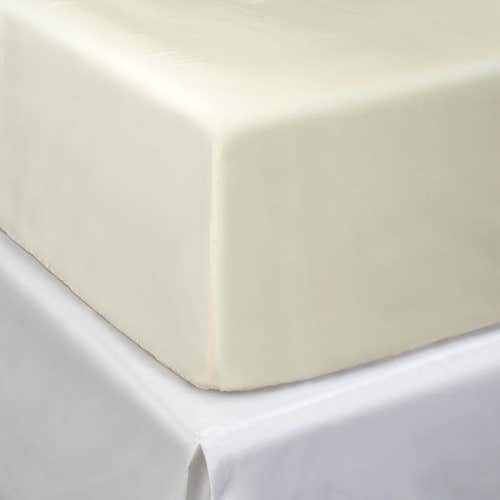 Pelle d'uovo 300 Thread Cotton Sateen - Ivory - Fitted Sheet