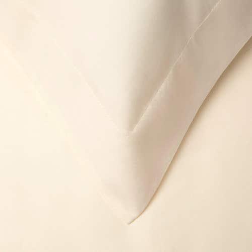 Pelle d'uovo 300 Thread Cotton Sateen - Ivory - Pillowcase