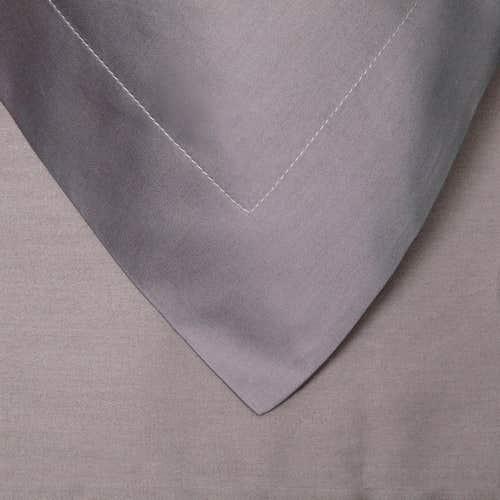 Pelle d'uovo 300 Thread Cotton Sateen - Slate Grey - Pillowcase