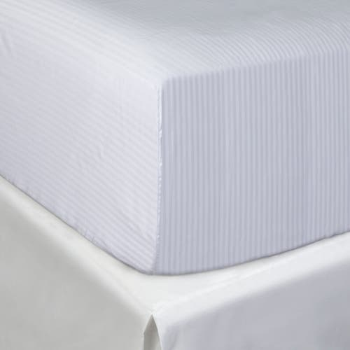Egyptian 500 Thread Cotton Sateen Micro-stripe - Fitted Sheet