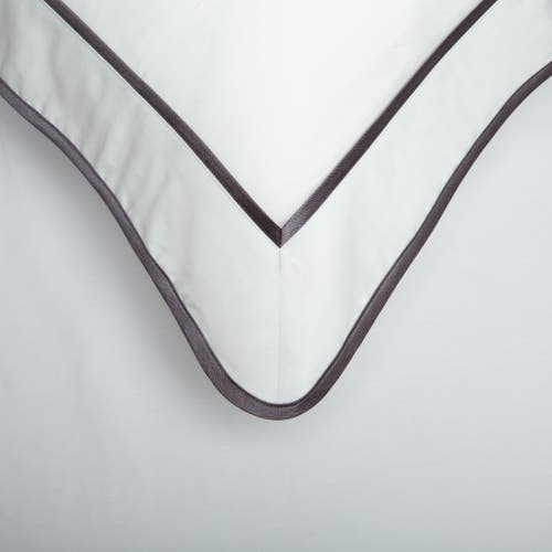 Monaco Egyptian 550 Thread Cotton Sateen - Anthracite Grey trim - Framed Trim Cushion
