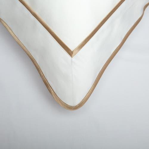 Monaco Egyptian 550 Thread Cotton Sateen - Mink trim - Framed Trim Cushion