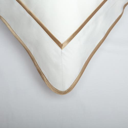 Monaco Egyptian 550 Thread Cotton Sateen - Mink trim - Framed Trim Pillowcase