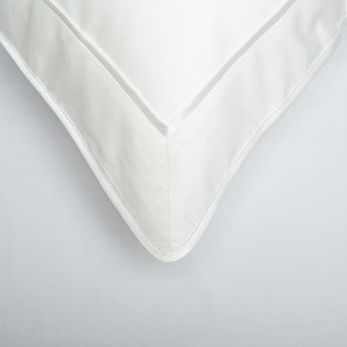 Monaco Egyptian 550 Thread Cotton Sateen - White trim - Framed Trim Pillowcase