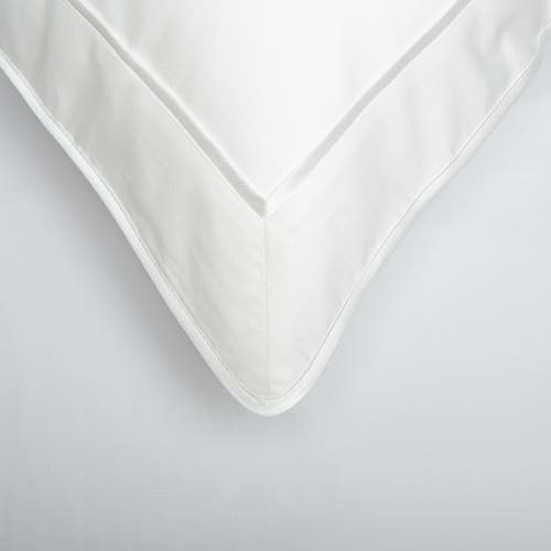 Monaco Egyptian 550 Thread Cotton Sateen - White trim - Framed Trim Cushion