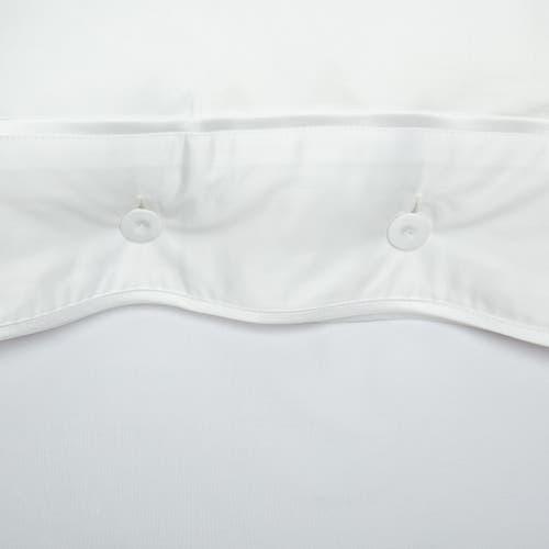 Monaco Egyptian 550 Thread Cotton Sateen - White trim - Pillowcase with Buttons