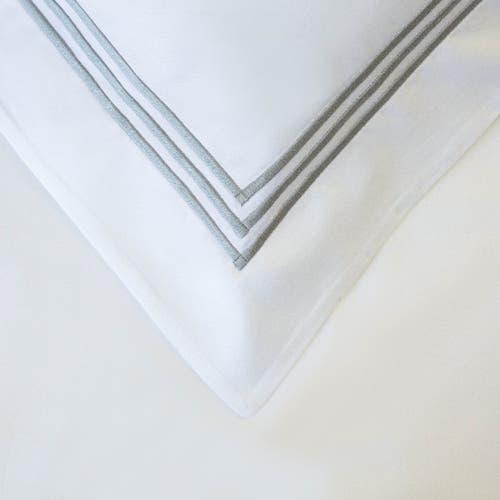 Milano Egyptian 800 Thread Cotton - White with Light Grey Three Row Cord - Pillowcase