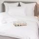 Monaco Egyptian 550 Thread Cotton Sateen Bed Linen - White trim