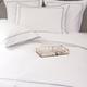Monaco Egyptian 550 Thread Cotton Sateen Bed Linen - Platinum blue trim