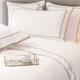 Monaco Egyptian 550 Thread Cotton Sateen Bed Linen - Mink trim