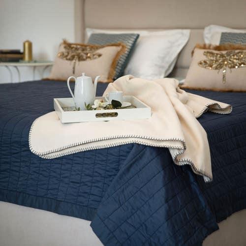 Oporto 100% Cotton Blanket/Throw-over