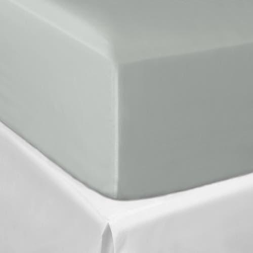Pelle d'uovo 300 Thread Cotton Sateen - Platinum Grey - Fitted Sheet