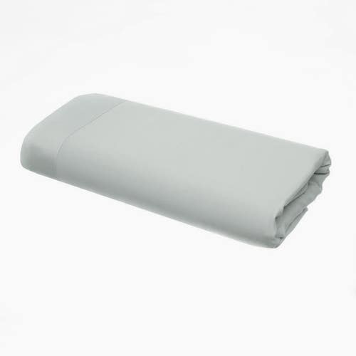 Pelle d'uovo 300 Thread Cotton Sateen - Platinum Grey - Flat Sheet