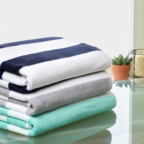 Stripe Pure Cotton Large Pool Towel