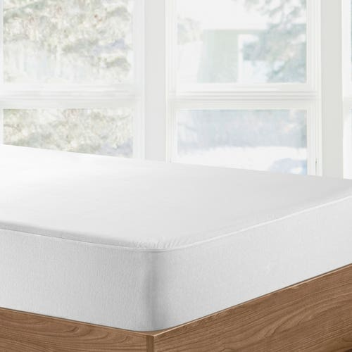 Respira Organic Cotton Waterproof Fitted Sheet/Protector (Breathable) in White
