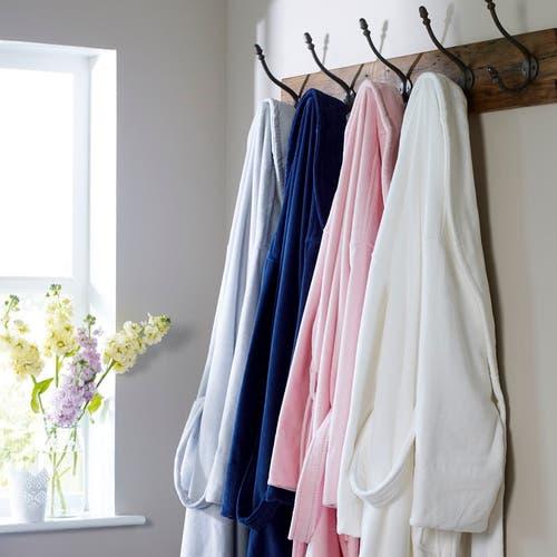 Luxury Soft Velour Cotton Bathrobe